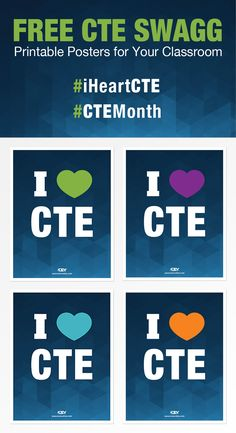 Promote CTE Month | CTE SWAGG: 4 Free Printable Posters For Your Classroom  #iHeartCTE #CTEMonth