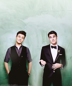 Snazzy dressed men with amazing voices! Chris Colfer and Darren Criss.