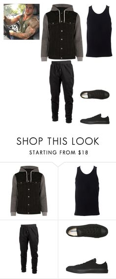 """""""Edward"""" by animewolf-354 ❤ liked on Polyvore featuring River Island, Simplex Apparel, Ideology, Converse, men's fashion and menswear"""