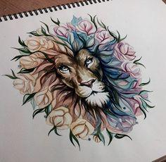 Lion tatoo the lion tattoo idée lion art tattoo loin tatoo lion tattoo portrait coloré