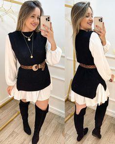 Camisa Formal, Ideias Fashion, Shirt Dress, Jeans, Womens Fashion, Sweaters, Shirts, Dresses, Inspiration