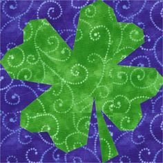 Free Shamrock (paper pieced) Pattern for the quilt lovers out there.  Thanks to craftsy.com.