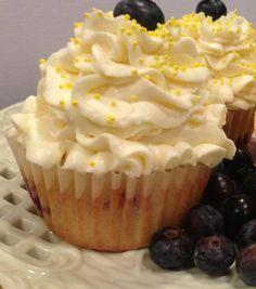 Mascarpone Lemon Blueberry Cupcakes