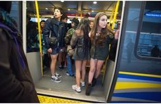 Hundreds take part in No Pants SkyTrain Ride (with video)