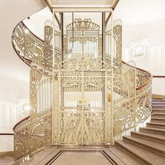 Major apartment envy for the residents of Maison des Majolique in Vienna! Stunning inside and out, it was designed by Otto Wagner in Alphonse Mucha, Vienna Apartment, Family Of The Year, Art Nouveau, Otto Wagner, Grand Budapest Hotel, Art Deco Design, Stairways, Architecture