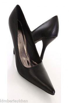 Sexy Black Pointy stiletto wedding formal pumps Womens High Heel Shoes sz 7