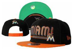 MLB Florida Marlins Snapbacks Hats Fluorescence New Era 9FIFTY Hats 9202!$8.90USD