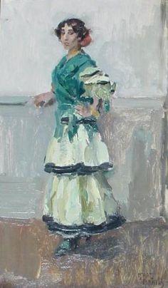 Spaanse danseres - Isaac Israëls (1865-1934) Kunsthandel Pygmalion Beeldende Kunst, Maarssen, Utrecht. Schilderkunst en beeldhouwkunst 1850-1950