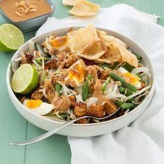 Gado Gado, Vegetarian Recipes, Healthy Recipes, Veggie Dinner, Good Food, Yummy Food, Asian Recipes, Ethnic Recipes, Indonesian Food