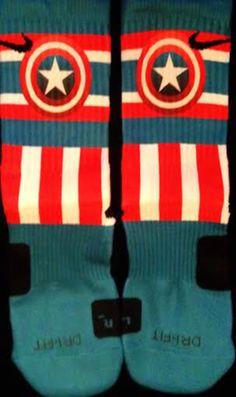Captain America Custom Nike Elite Socks Parody by LuxuryElites, $35.99
