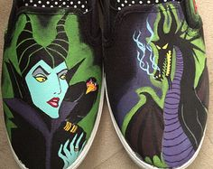 Check out our disney shoes selection for the very best in unique or custom, handmade pieces from our shops. Painted Canvas Shoes, Hand Painted Shoes, Tea Party Outfits, Hero Crafts, Custom Vans Shoes, Disney Shoes, Geek Gear, Unique Shoes, Shoe Art