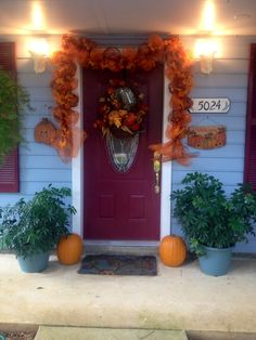 My front door fall decorations 2013 Fall Decorations, Thanksgiving Decorations, Autumn Inspiration, Wreaths, Home Decor, Homemade Home Decor, Door Wreaths, Deco Mesh Wreaths, Interior Design