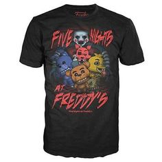 Funko POP! Tees Five Nights At Freddy's FNAF Group T-shirt For KIDS