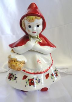 Vintage Red Riding Hood Cookie Jar