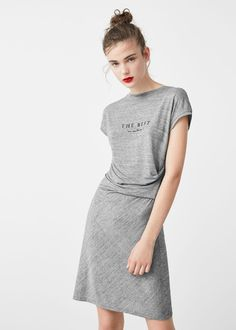 Draped detail dress - Dresses for Woman | MANGO Denmark