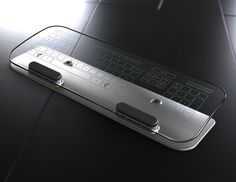 gorgeous!!!! multi-touch glass keyboard and mouse!