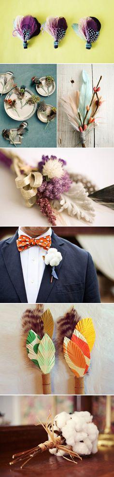 Praise Wedding » Wedding Inspiration and Planning » 28 Creative Boutonnieres