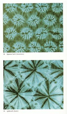 examples of shibori dying from the book Shibori, The Inventive Art of Japanese Shaped Resist Dyeing