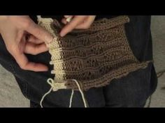 Knitted Wavy Drop Lace by Diana Sullivan - YouTube