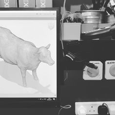 When waiting for your Friday night takeaway... and you get bored...so make a 3D model of a cow on #fusion360 #schoolfarm #makerlabs #makersgonamake #fridaynightdinner