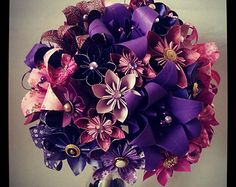 Paper Flowers Origami Bouquet Wedding Bridal Alternative Roses