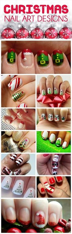 Some Christmas Nail arts images for New year 2016