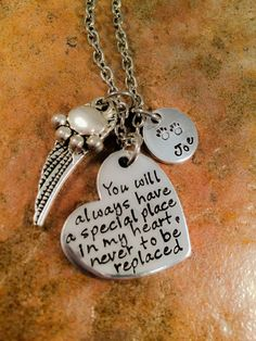 Pet Memorial Necklace, Dog Loss Necklace, Cat Loss Necklace, Bereavement Necklace