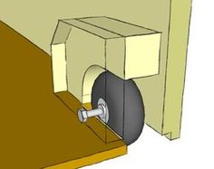 use roller blade wheels for making rolling drawers!