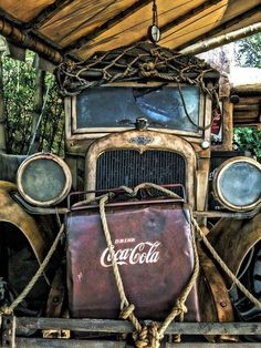 Chevy Truck w/ Coca-Cola Ice Chest! Abandoned Cars, Abandoned Places, Abandoned Vehicles, Classic Trucks, Classic Cars, Chevy Classic, Coca Cola, Pepsi, Wallpaper Cars