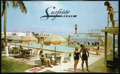 vintage florida hotel pool area - Google Search