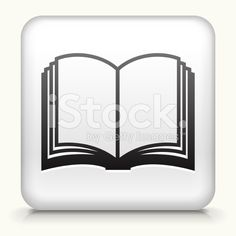 Square Button with Book royalty free vector art royalty-free stock vector art