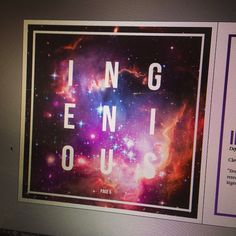 Second piece of my self promo, the main idea is that our capabilities are infinite and so I am #Ingenious to design #joshuagdesign #space #selfpromo