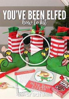 You've Been Elfed with Free Printable - Craft Create Cook Diy Christmas Gifts For Family, All Things Christmas, Holiday Crafts, Holiday Fun, Christmas Holidays, Christmas Ideas, Pallet Christmas, Christmas Sweets, Christmas Movies