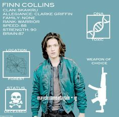 tonvstcrk: The 100 + Character Data - Finn Collins The 100 Cast, The 100 Show, It Cast, Movies Showing, Movies And Tv Shows, Thomas Mcdonell, The 100 Serie, The 100 Quotes, The 100 Characters