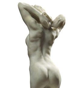"""RODIN Auguste (Paris 1840 – 1917 Meudon) ~ Faunesse à genoux"""" (The Kneeling Female Faun)"""