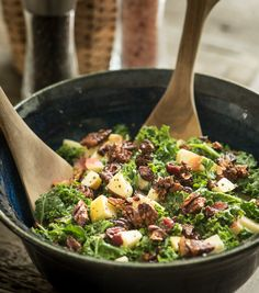 Apple and Kale Salad with Oil Free Maple Dijon Dressing