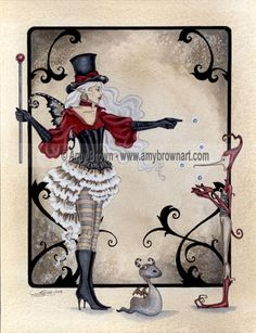 """The Juggler"" PRINTS-OPEN EDITION - Carnival and Steampunk - Amy Brown Fairy Art - The Official Gallery"