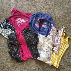 ❤️⚓️Huge set of US Navy anchor nautical tops! HUGE lot of US NAVY PRIDE gear! Support a sailor! MAKE OFFER! You get everything pictured! -gray/white anchor hoodie L hiatus -pink lace Love tee M Ambiance Apparel -white/navy anchor + yellow stripe tank M forever 21 -pink hoodie M Jones &Mitchell -navy tank/white anchors XL rue 21 -floral ⚓️ tank M Material Girl -flower ⚓️ sweatshirt S wet seal -blue hoodie L J&M -pink/black lace tank L Bongo **they all fit a 34c bust/30 waist!** Items have…