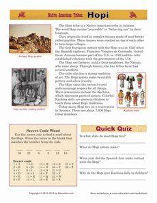Native American Tribes: Hopi