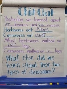 morning message--help students understand that writing is important and conveys important meaning.  Review previous day, or list what will happen today.  Kids add their own.