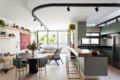 Kitchen Room Design, Kitchen Dinning, Home Decor Kitchen, Kitchen Interior, Small Apartment Layout, Apartment Design, Decor Interior Design, Interior Decorating, Sweet Home
