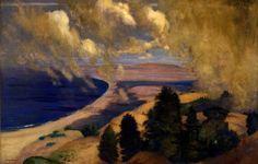 """Pacific Parnassus, Mount Tamalpais,"" by Arthur Bowen Davies, 1905, oil on canvas."