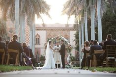 ceremony-of-Jackie-and-Tim Ringling Mansion, Sarasota, FL www.abweddingstampa.com