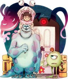 I love this Monsters Inc art. Amazing