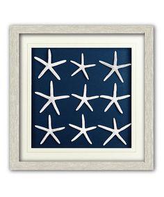 Look what I found on #zulily! Navy Starfish Shadow Box #zulilyfinds