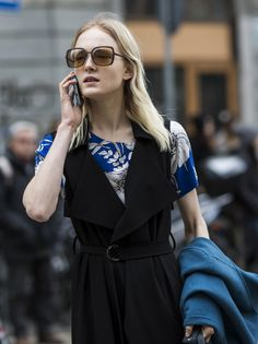 hold the phone. #MajaSalamon #offduty in Milan.