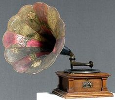 A Victor Victrola morning glory phonograph  (1900-1925)  Would love to have one in my home.