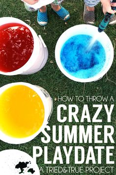 Fun ideas on entertaining kids during the Summer!