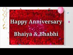Happy Anniversary to Bhaiya and Bhabhi Wishes Greetings Quotes Whatsapp Status Video