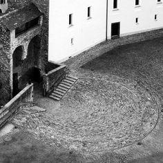 Aurelio Galfetti - Restoration of Castelgrande, Bellinzona 1981. Via, 2, 3, 4, 5, photos © Stefania Beretta, Christof Wittig, Steve/flickr